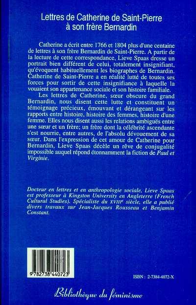 Lettres de Catherine de Saint-Pierre à son frère Bernardin