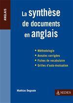 La synthèse de documents en anglais