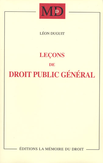 Lecons De Droit Public General