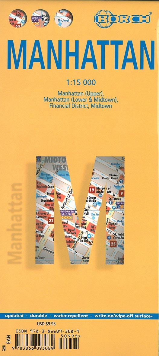 Manhattan (édition 2007) ; Manhattan (upper), Manhattan (lower & midtown), financial district, midtown