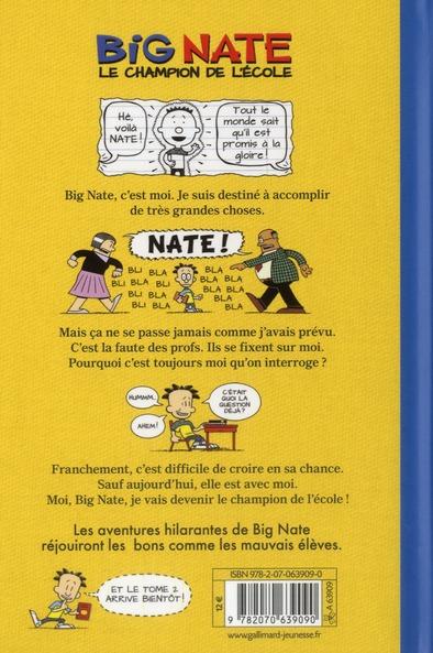 Big Nate t.1 ; le champion de l'école
