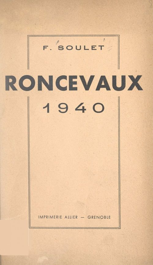 Roncevaux 1940