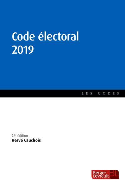 Code électoral (édition 2019)