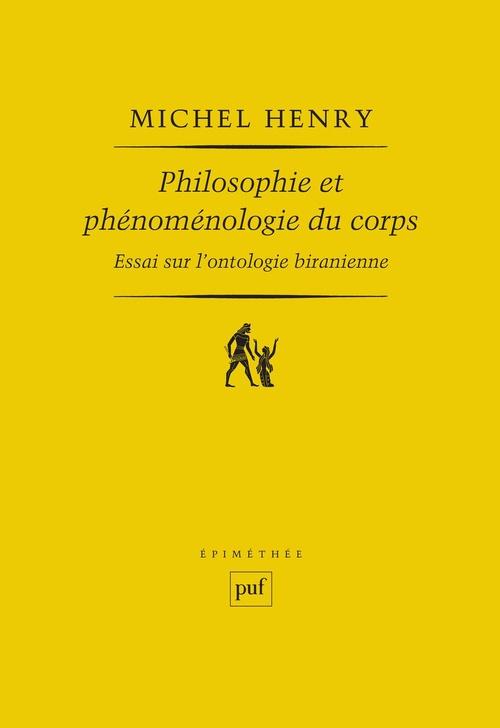 Philosophie et phénoménologie du corps (6e édition)