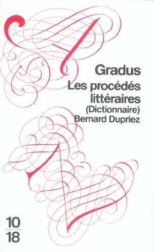 Gradus ; les procédés littéraires