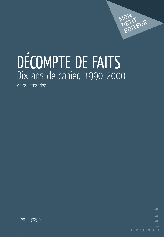 Décompte de faits  - Anita Fernandez