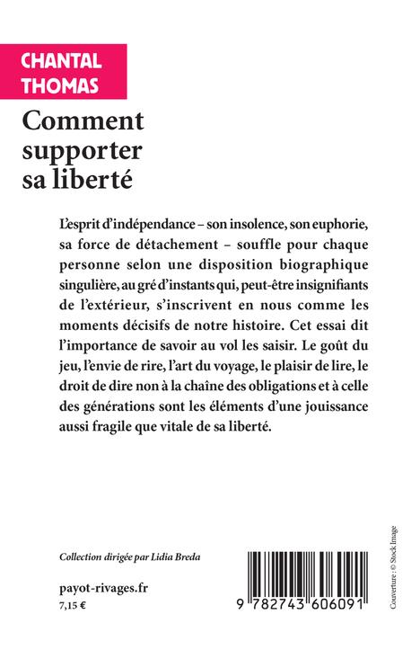 comment supporter sa liberte
