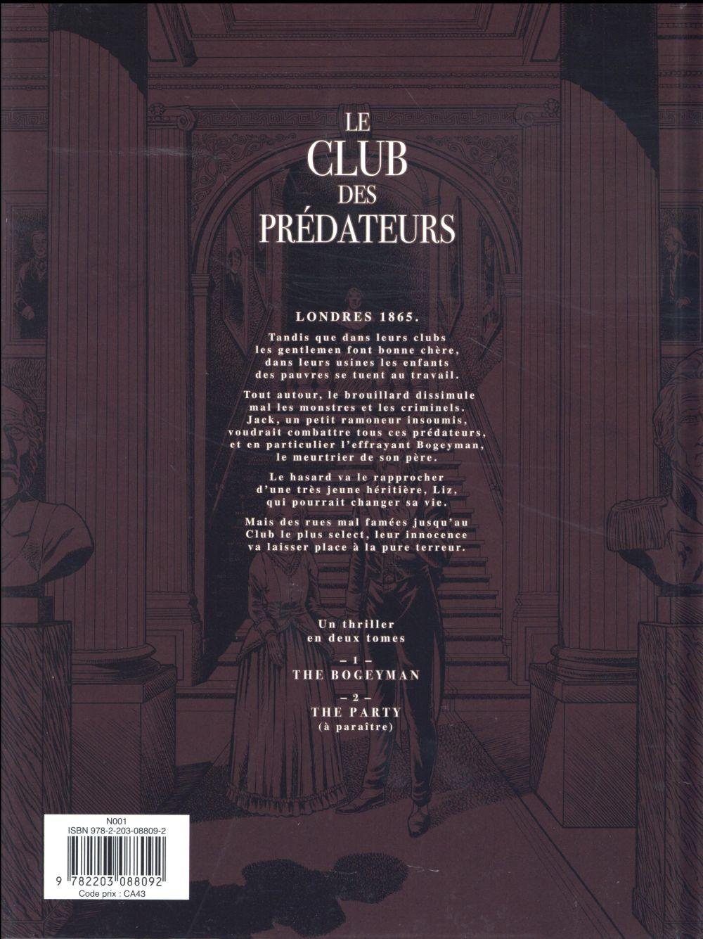 Le club des prédateurs t.1 ; le bogeyman