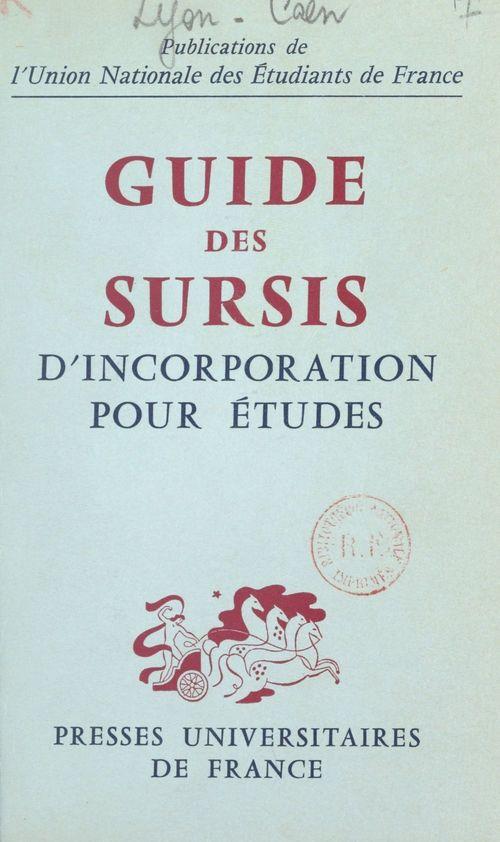 Guide des sursis d'incorporation pour études