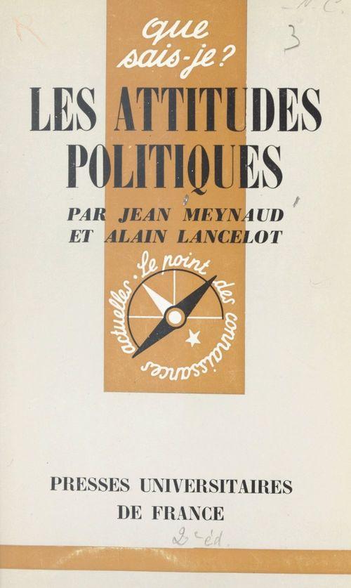 Les attitudes politiques