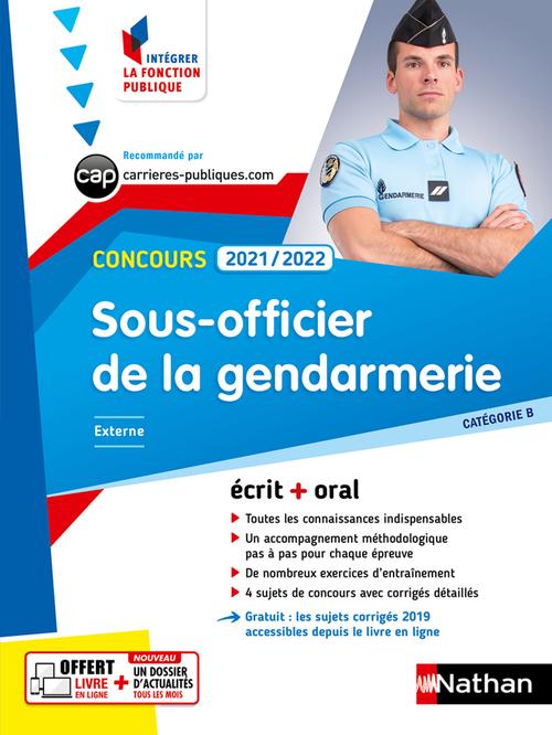 concours sous-officier de la gendarmerie ; catégorie B (édition 2021/2022)
