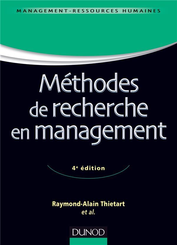 Méthodes de recherche en management (4e édition)