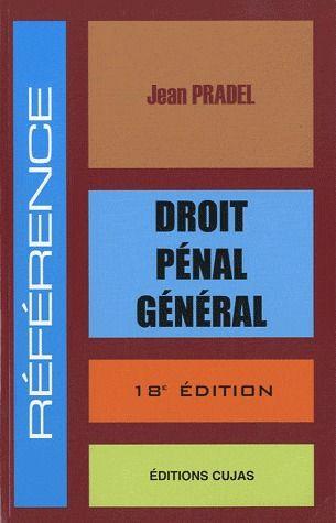 Droit penal general (18e édition)