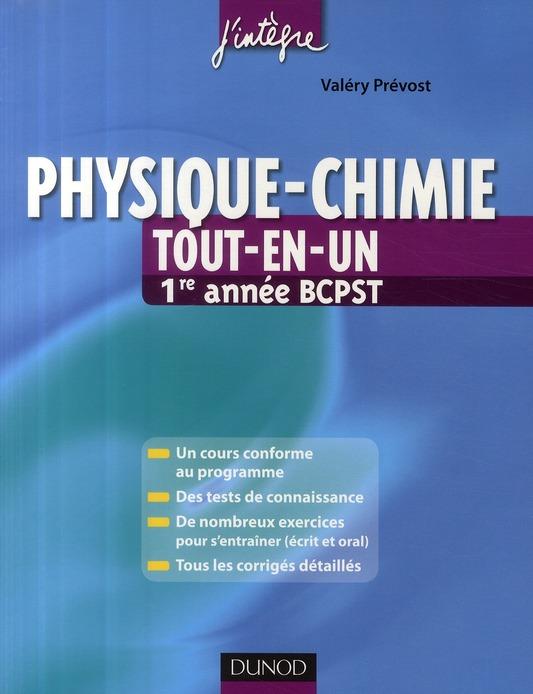 Physique-Chimie ; Bcpst 1ere Annee ; Tout-En-Un
