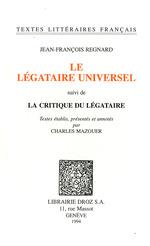 Vente Livre Numérique : Le Légataire universel ; suivi de La Critique du Légataire  - Charles Mazouer - Jean-François Regnard