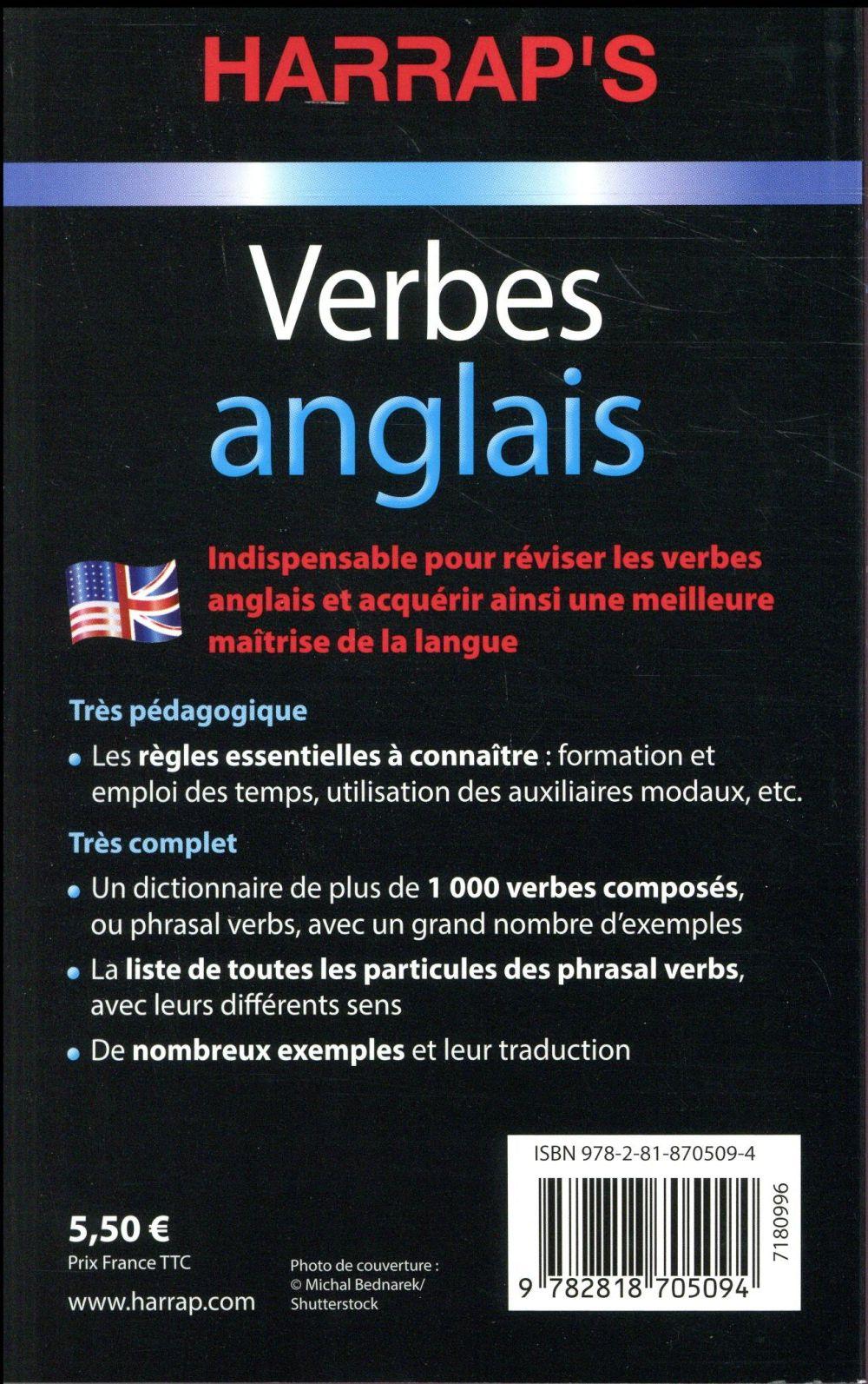 Harrap S Verbes Anglais Collectif Harrap S Grand Format Place Des Libraires