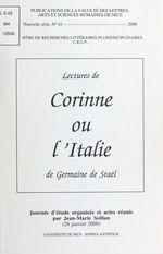 Lectures de Corinne ou l'Italie de Germaine de Staël  - Jean-Marie Seillan - Jean-Marie Seillan - Centre de recherches littéraires et pluridisciplinaires - Jean-Marie Seillan