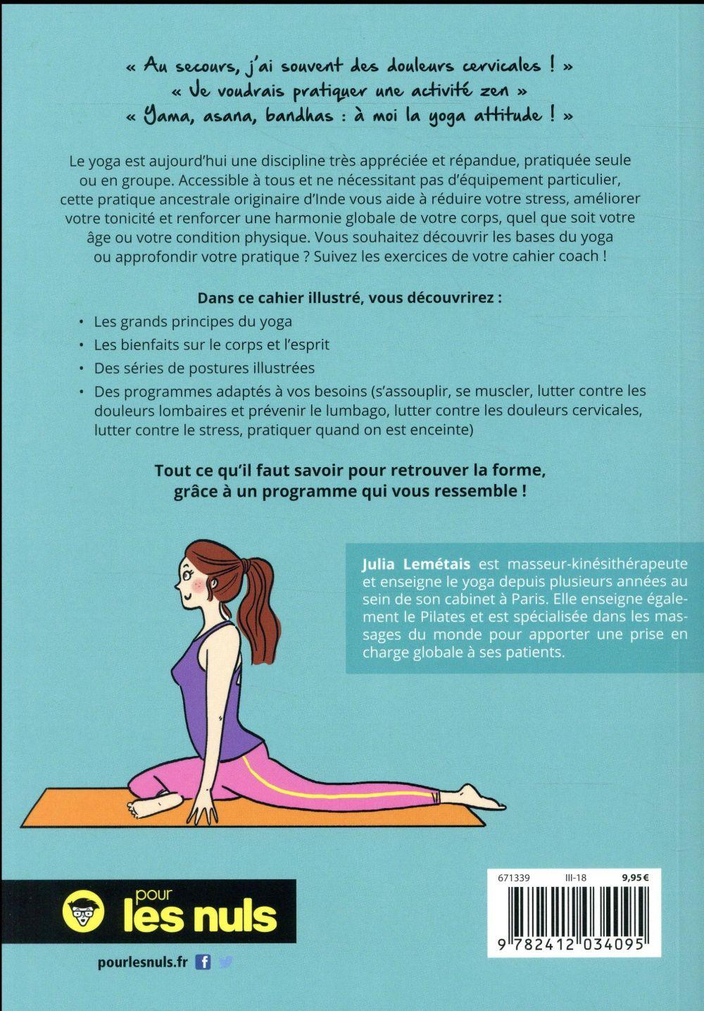 Le cahier yoga pour les nuls
