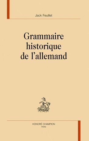 Grammaire historique de l'allemand