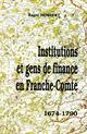 Institutions et gens de finance franche-comte  - Roger Humbert