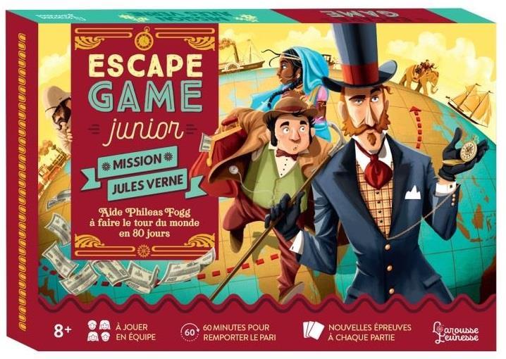 Escape game junior ; maison Jules Verne ; aide Phileas Fogg à faire le tour du monde en 80 jours