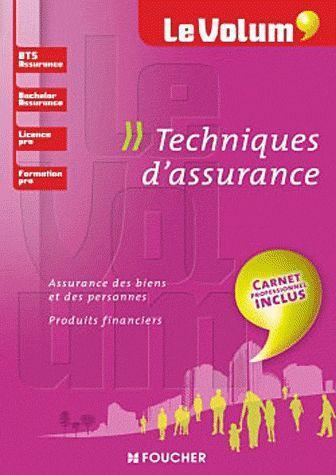 Le Volum'; Techniques D'Assurance ; Bts