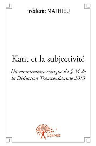 Kant et la subjectivité
