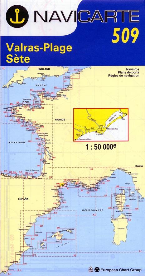 NAVICARTE N.509 ; Valras-Plage, Sète