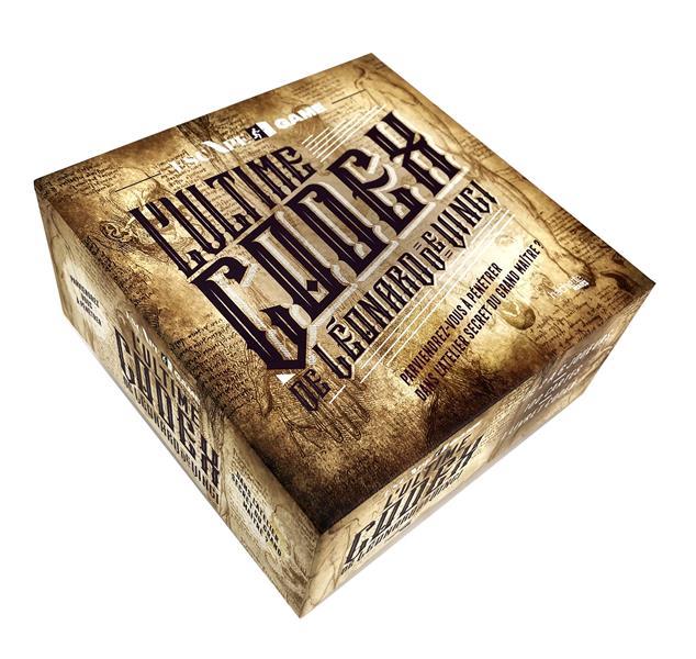 Boîte escape game ; l'ultime codex de Léonard de Vinci ; parviendrez-vous à pénétrer dans l'atelier secret du grand maître ?