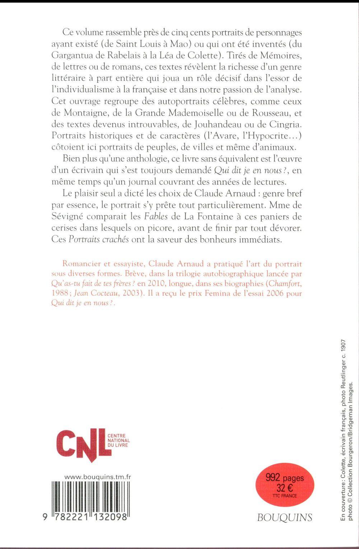 Portraits crachés ; un trésor littéraire de Montaigne à Houellebecq