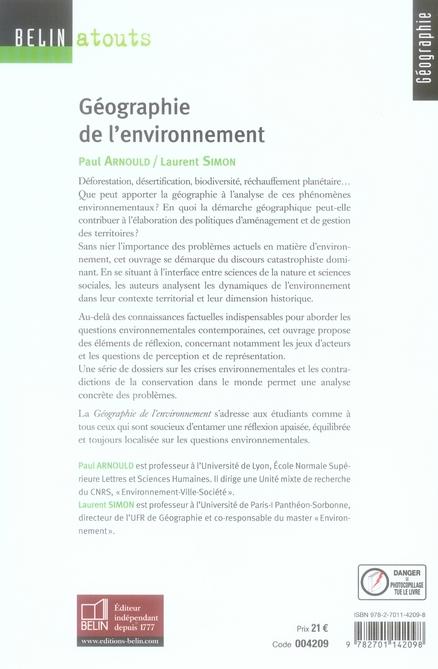 géographie et enjeux environnementaux
