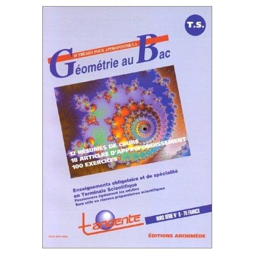 Geometrie au bac t.1 ; terminale s