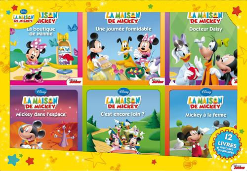 La Maison De Mickey ; Coffret 12 Livres
