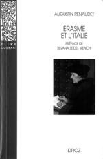Erasme et l'Italie. Nouvelle édition corrigée  - Augustin Renaudet