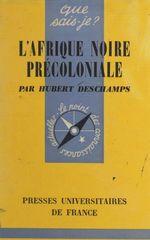 L'Afrique noire précoloniale