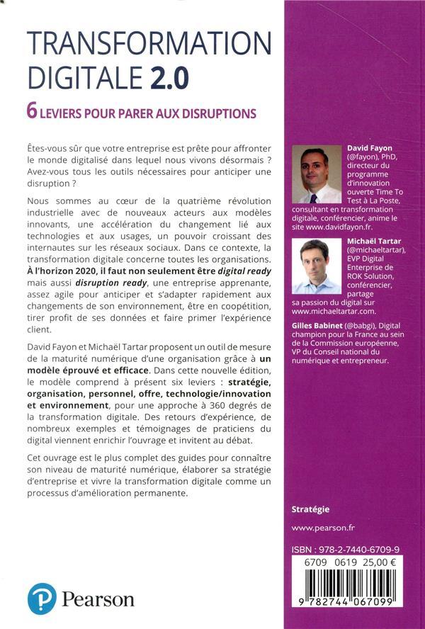 Transformation digitale 2.0 ; 6 leviers pour parer aux disruptions
