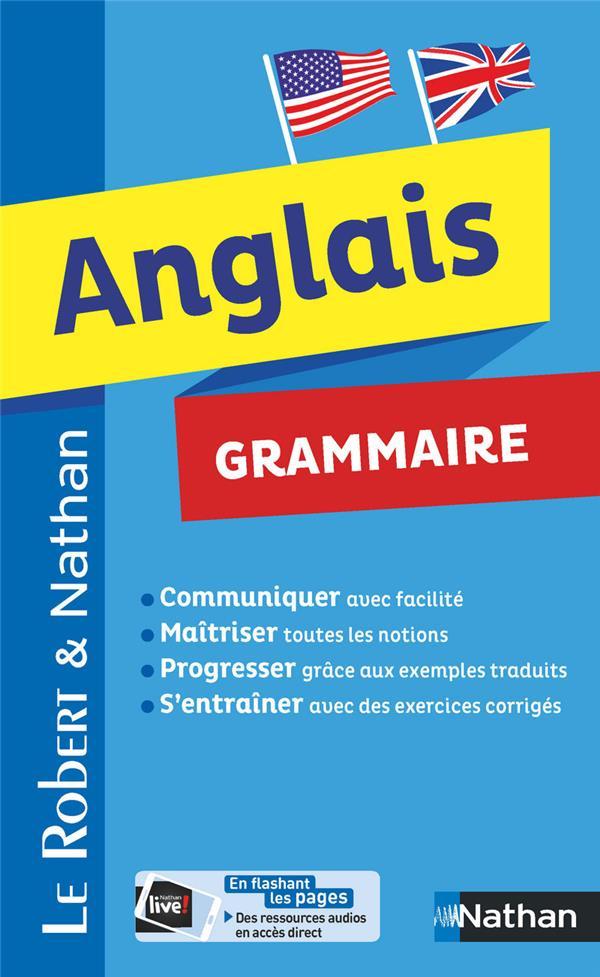Dictionnaire Le Robert & Nathan ; anglais ; grammaire (édition 2018)