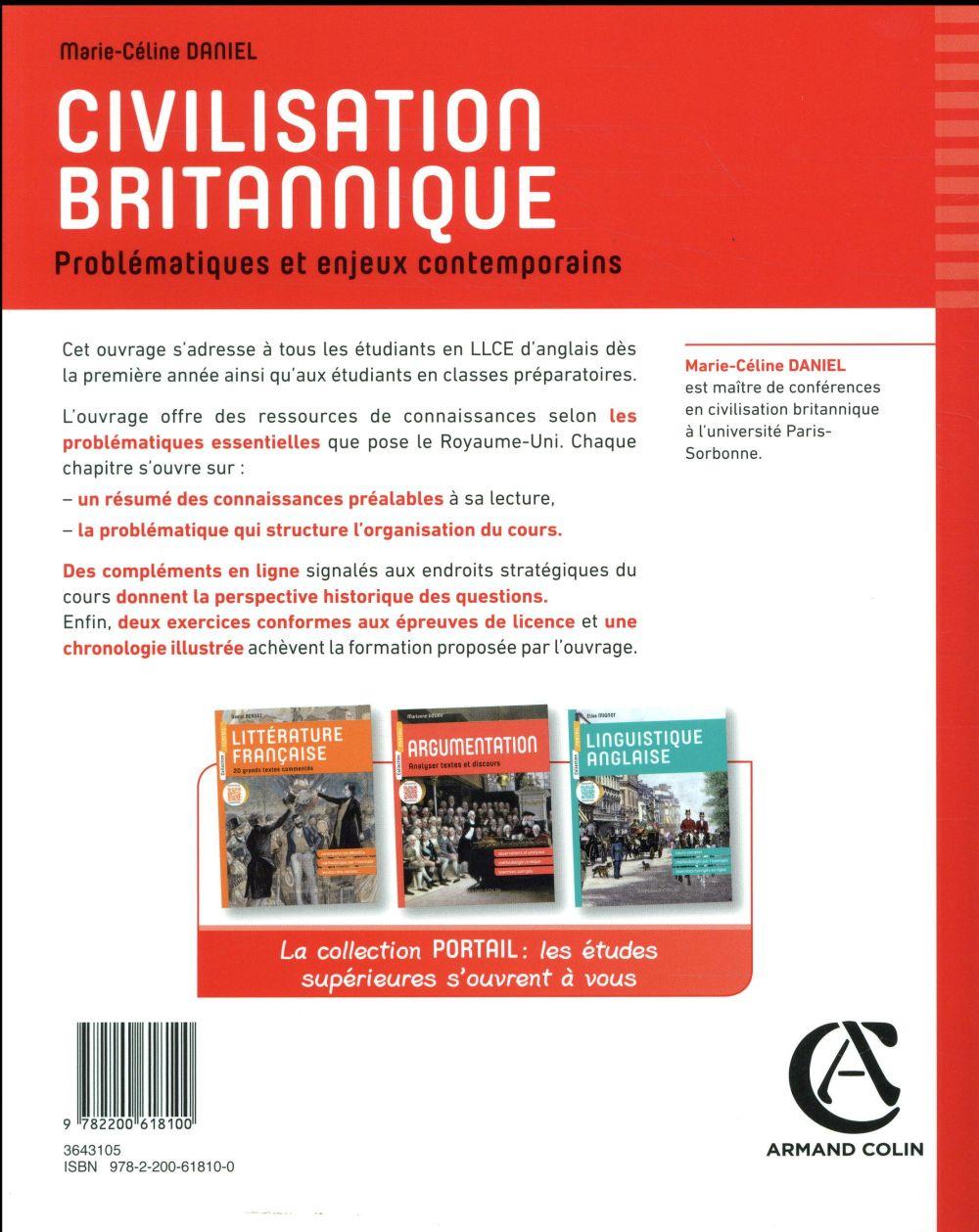 Civilisation britannique ; problématiques et en enjeux contemporains