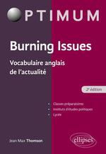 Burning issues ; vocabulaire anglais de l'actualité