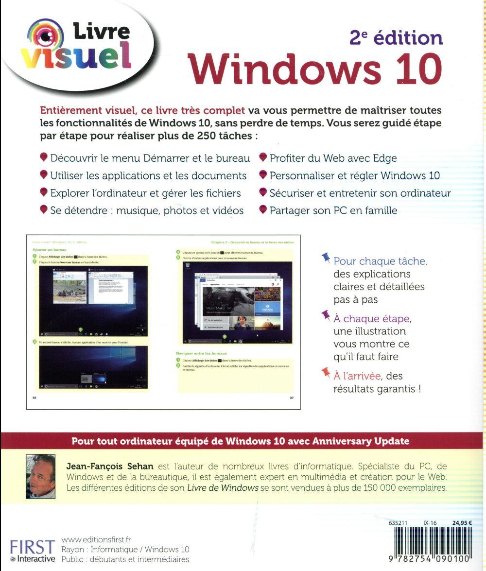 Livre visuel ; Windows 10 (2e édition)