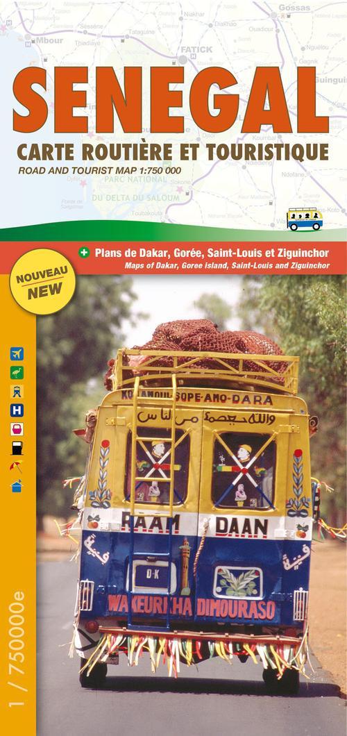 Sénégal ; carte routière et touristique