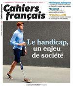 Vente Livre Numérique : Cahiers français : Le handicap, un enjeu de société - n°411  - La Documentation française