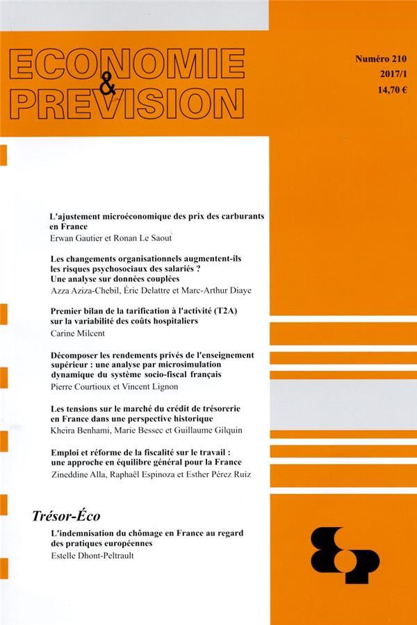 Economie et prevision n.210 (edition 2017/2018)