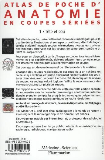ATLAS DE POCHE ; anatomie en coupes sériées TDM-IRM t.1 ; tête et cou (3e édition)