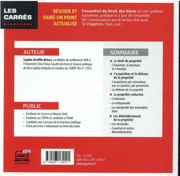 L'essentiel du droit des biens : une description des notions et mécanismes fondamentaux (14e édition)