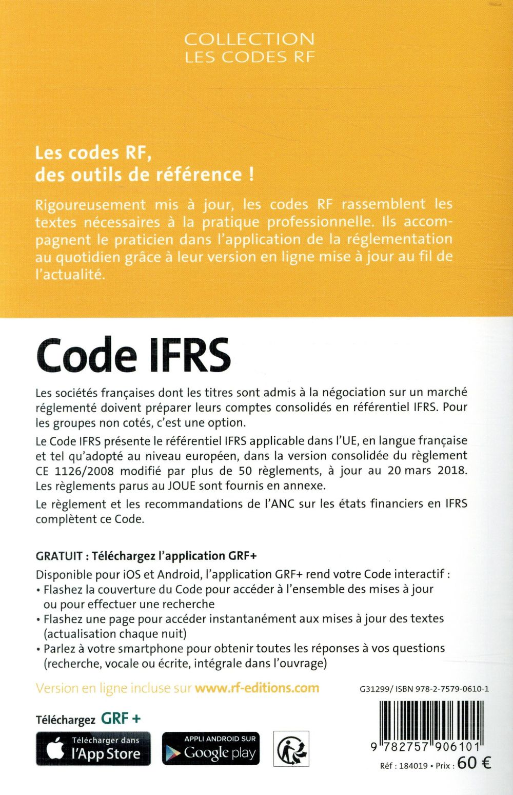 Code Ifrs 12e Edition Collectif Groupe Revue Fiduciaire Revue Fiduciaire Grand Format Le Hall Du Livre Nancy