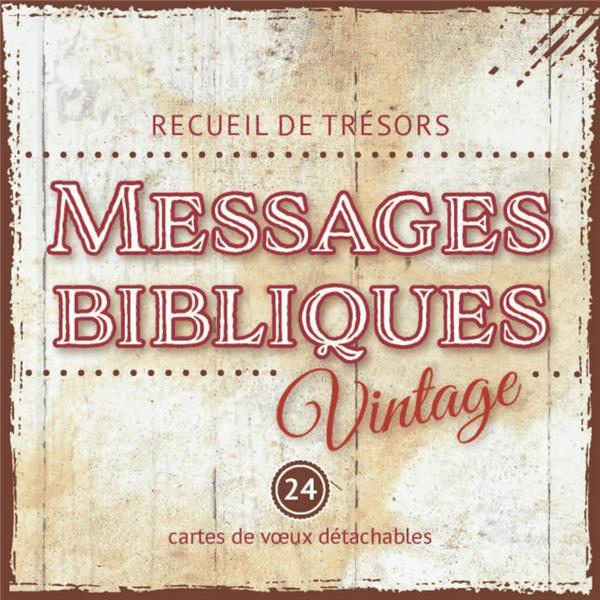 Messages bibliques vintage ; recueil de mini-cartes à spirale
