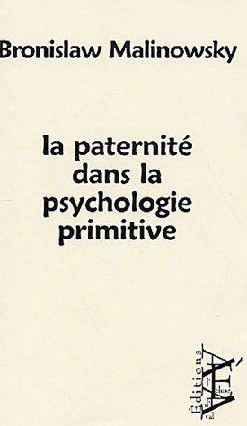 La paternité dans la psychologie primitive