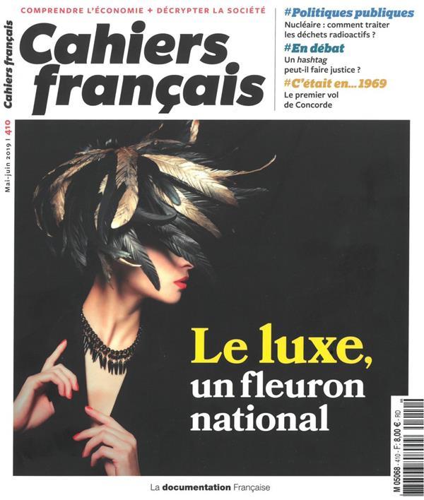 cahiers français t.410 ; le luxe, un fleuron national