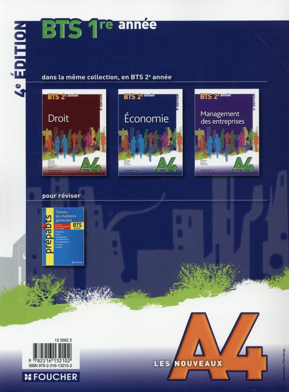 LES NOUVEAUX A4 ; économie ; bts ; 1ère année (4e édition)